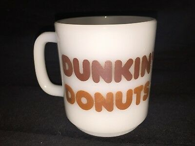 Vintage White Glasbake Dunkin' Donuts Milk Glass Coffee Cup Mug