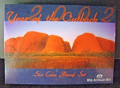 2002 Australia Proof 6 Coin Set (Year of the Outback)   ** FREE U.S. SHIPPING **