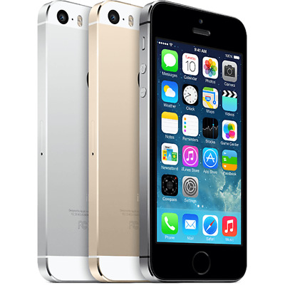 """Apple iPhone 5S - 16 32 64GB """"Unlocked"""" GSM Smartphone Gold Gray Silver Graded"""