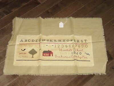 Gathering Room Reproduction Sampler CrossStich Humboldt School Buchanon Missouri