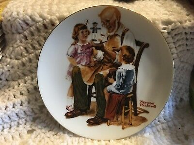 "Norman Rockwell Collector 6 1/2"" Plate- ""The Toymaker"" 1984 Pre-Owned"