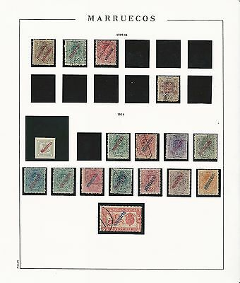Spanish Morocco: Rest of coleccion year 1909 to 1923 mint and used good... SR18+