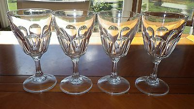 Clear Glass Water Goblets in Petale by Cristal D'Arques-Arcoroc France 4 11oz