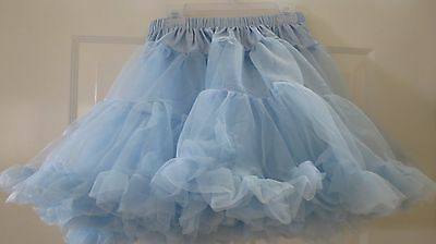 `One Size Fits Adults Most Leg Avenue NWT Light Blue Tulle Crinoline Skirt