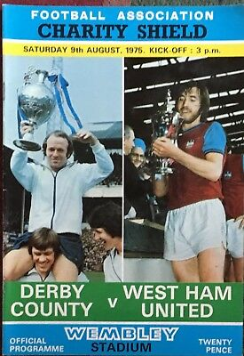 DERBY COUNTY v WEST HAM UNITED. Charity Shield 1975. MINT