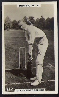 PHILLIPS-CRICKET ERS BROWN BACK F192-#072c- GLOUCESTERSHIRE - DIPPER