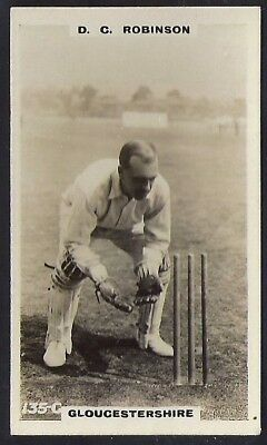 PHILLIPS-CRICKET ERS BROWN BACK F192-#135c- GLOUCESTERSHIRE - ROBINSON