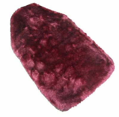 Faux Fur Covered Rubber Ribbed Hot Water Bottle - Dark Pink - 2 Pack