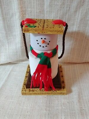 Animated Christmas Smores Snowman Dances and plays music 10 inches tall