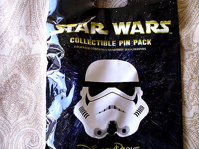 Disney STAR WARS * STORMTROOPER HELMETS * New 5-pin Collectible Mystery Pin Pack