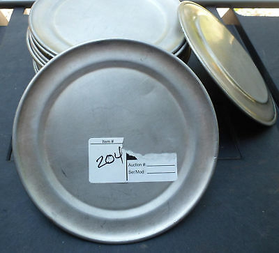 """Lot of 5 - 7"""" Aluminum Pizza Pan Trays cover lid serving baking oven plate"""