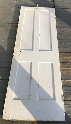 Vintage Wood Panel Narrow Door 24x72 wooden pantry closet interior antique