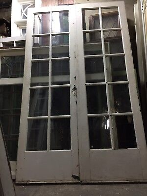 "French Doors Old antique vintage 79"" X 24"" 10 Light"