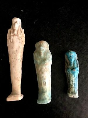 Ancient Egyptian Three  Faience  Ushabty Special