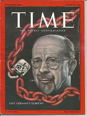 1961 August 25 Time Magazine - East Germany's Walter Ulbricht