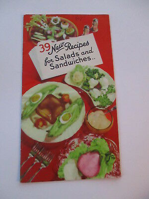 Hellmann's Best Foods Fold Out Booklet Leaflet Recipes Mayonnaise 1930's
