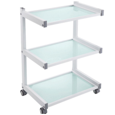 3 Tier Frosted Glass Trolley
