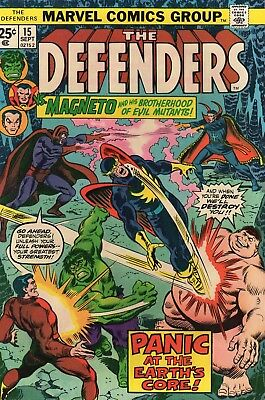 The Defenders #15 (Sep 1974, Marvel) VFNM 9.0 Magneto/Brotherhood of Evil Mutant