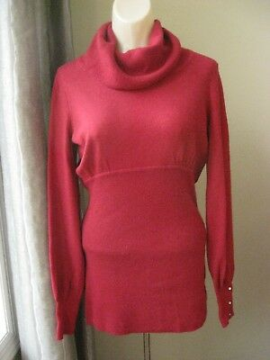 Gap Maternity Red Cowl  Neck Long Sleeve Sweater Size Medium