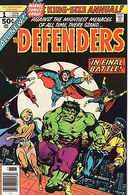 The Defenders Annual #1 ([November] 1976, Marvel) NM 9.4 Nighthawk/Power Man