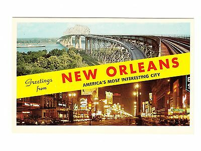 1960's Postcard, Greetings From New Orleans New Orleans, La,,  22-Pc204