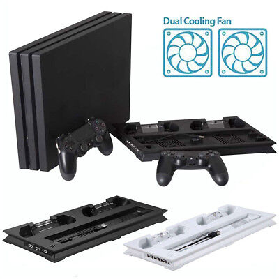 Vertical Stand Cooling Fan with 2 Charging Station for PS4 Pro/Slim Console SY