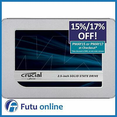 "Crucial MX500 Series 500GB 2.5"" SATA 7mm Internal Solid State Drive SSD 560MB/s"