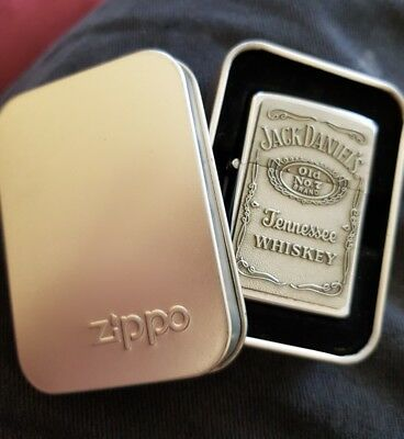 zippo lighter jack daniels never used with tin old no 7 print free post express