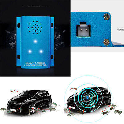 Ultrasonic Control Mouse Pets Insects Ants Repeller Deterrent Under Hood in Car