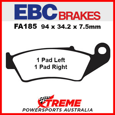 EBC Beta RR450 4T Cross Country 12-13 Sintered Copper Front Brake Pad FA185R
