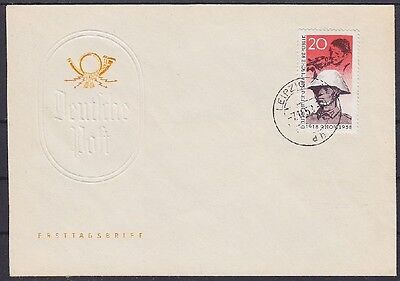DDR FDC 662 mit Tagesstempel Leipzig 07.11.1958, first day cover