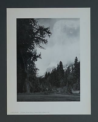 Ansel Adams Limited Ed. Photo Lithograph 29x36cm El Capitan Yosemite Valley 1968