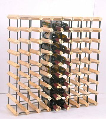 72 Bottle Timber Wine Rack - Complete Wooden Wine  Cellar Display Storage System