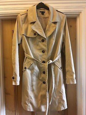 Ladies coat size XL Beige Hennes H&M MAMA Lovely maternity coat with belt
