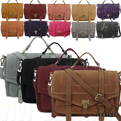Women's PU Leather Designer Inspired Crossbody Sling Messenger Satchel Purse Bag