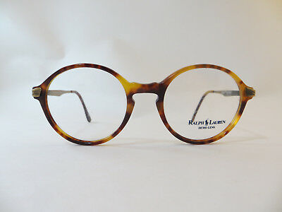 POLO Ralph Lauren Classic  Round BLOND TORT Vintage Eyeglasses Made in Italy
