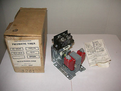 NEW CUTLER HAMMER 10337H192-66E PNEUMATIC TIMER 120V. NOS. On Delay, Type PN