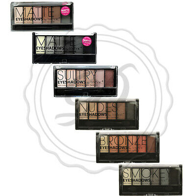 Technic Eyeshadow Palette - Compact Brush colour Nude Matte Shimmer Smokey Brown