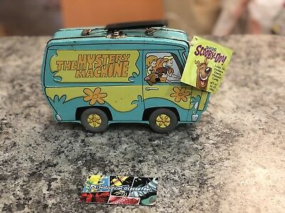 Scooby Doo Mystery Machine METAL Lunchbox Hanna Barbera 2000 w/ Latch & Handle