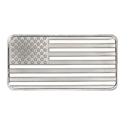 SilverTowne 10 oz Silver American Flag Bar | Sealed In Mint Packaging