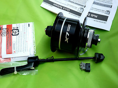 Shimano Deore LX Nabendynamo DH-T675 QR CL 36L SW Nabe Beleuchtung Laufrad NEU