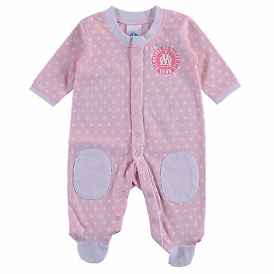 Olympique de Marseille Spotty Sleepsuit Pink Baby Girls Infant & Baby