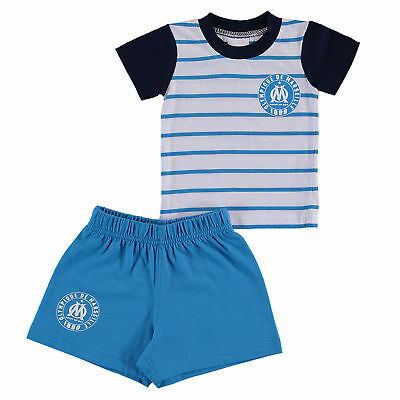 Olympique de Marseille T Shirt and Short Set Blue/White Baby Infant & Baby