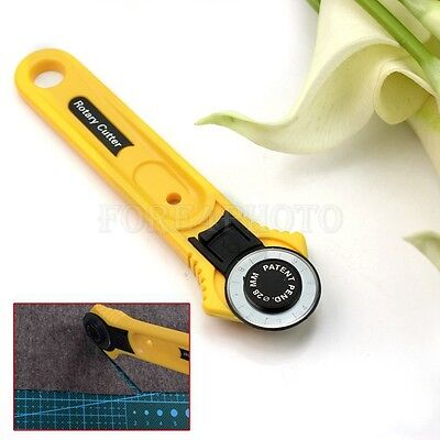 28mm Roll Cutter Round Wheel Blade Tailor Rotary Cutter Leather Cloth Cut