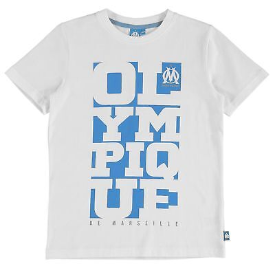 Olympique de Marseille Graphic T Shirt White Boys Kids