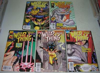 WILD THING 1 2 3 4 5 COMPLETE SET (Marvel 1999) DAUGHTER OF WOLVERINE (VF-)