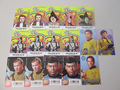 Dave & Buster's Wizard Of Oz & Star Trek Cards Lot of 16