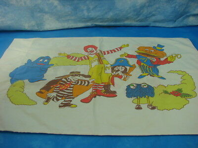 VTG 1976  Mcdonalds pillowcase sears Ronald McDonald