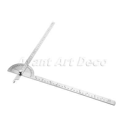 1pc Stainless Steel Protractor Gauge Gage Angle Finder Arm Ruler Measuring Tool