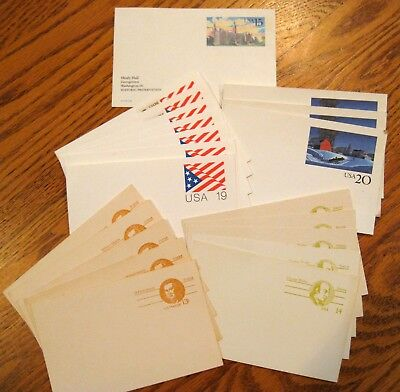 Vintage Lot of 21  USPS Post card Lot Pre-stamped MINT!